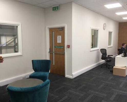 Inside an Office on a Mezzanine Floor Chesterfield