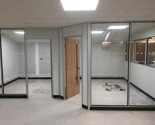 Internal Glazed Partitioning Liverpool