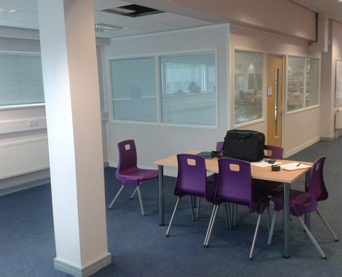 Office Partitioning in a School