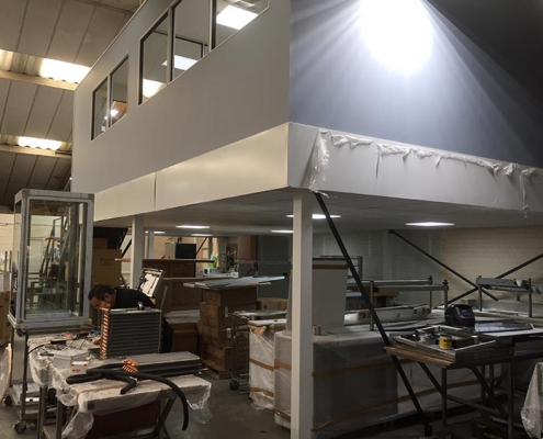 Office Partitioning on a Mezzanine Floor