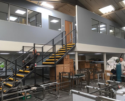 Office Partitioning on a Mezzanine Floor Liverpool