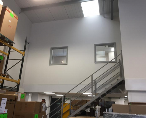 Office Partitioning on a new Mezzanine Floor Chesterfield