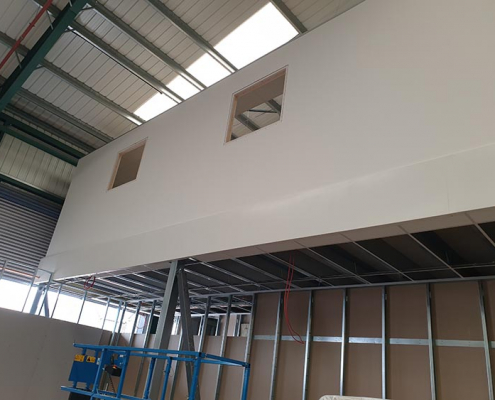 Part Built Office on a Mezzanine Floor