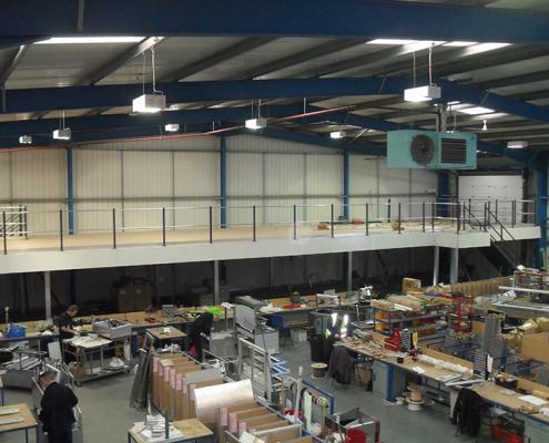 Mezzanine Floor above workspace Liverpool